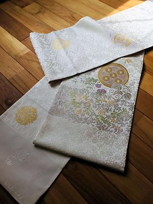 創作唐織袋帯 万葉唐小袖 02