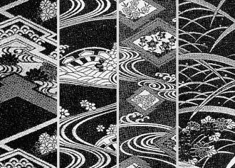 東京ますいわ屋 オリジナル黒紋付 装いの礼装 万葉黒 柄